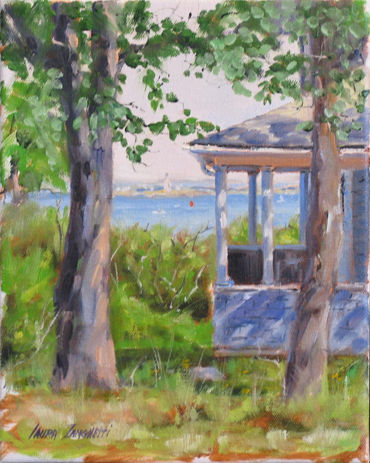 Oil Painting Painting - View From Pointe Allerton by Laura Lee Zanghetti