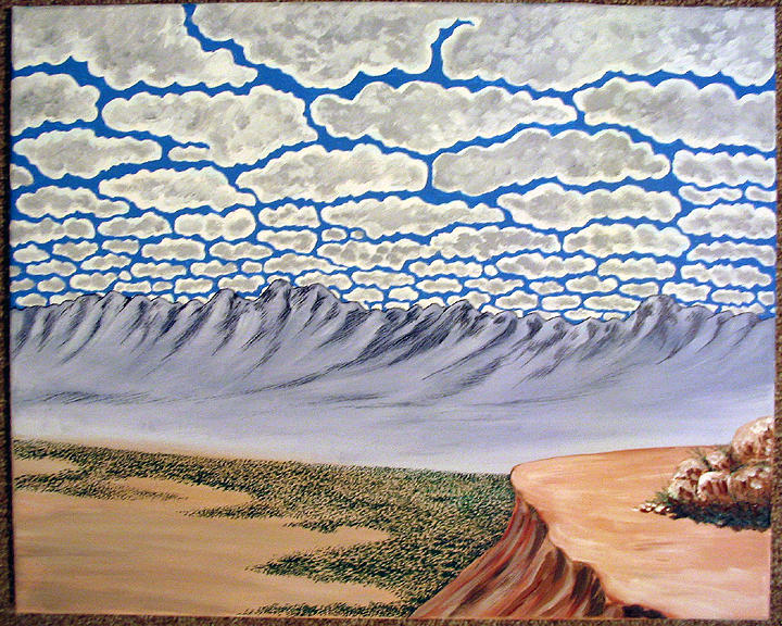 Desertscape Painting - View From The Mesa by Marco Morales