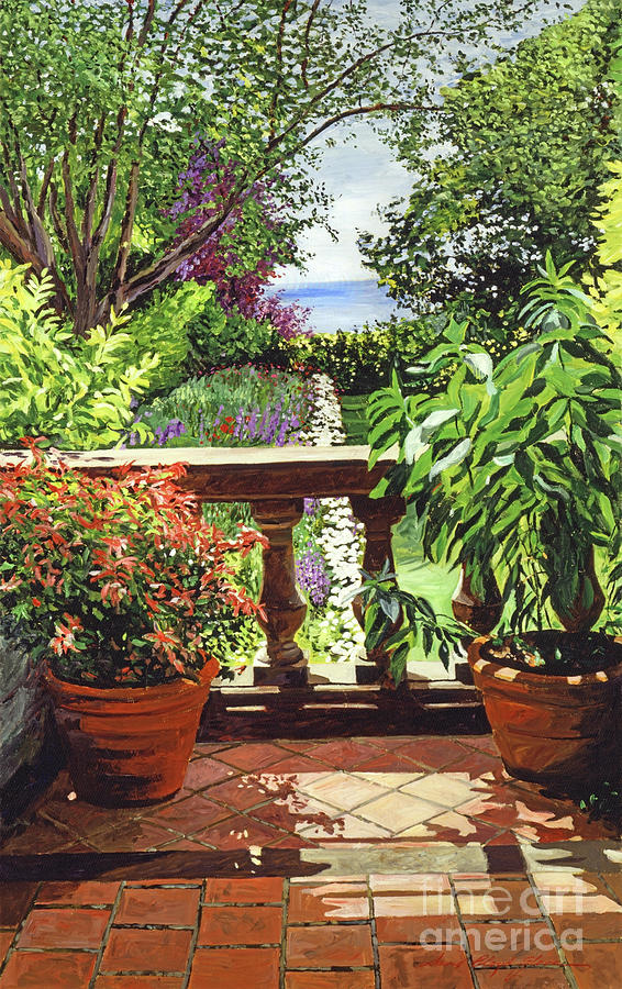 Gardens Painting - View From The Royal Garden by David Lloyd Glover