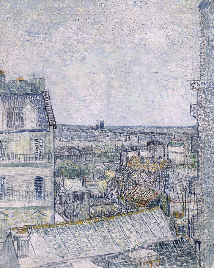 View From Vincents Room In The Rue Lepic Painting by Vincent van Gogh