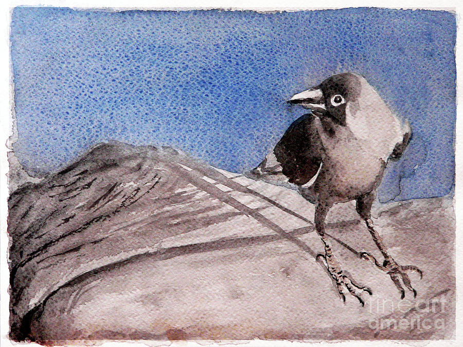 Crow Painting - View by Jasna Dragun