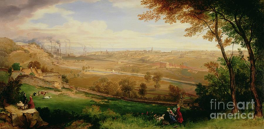 View Painting - View Of Bradford by William Cowen