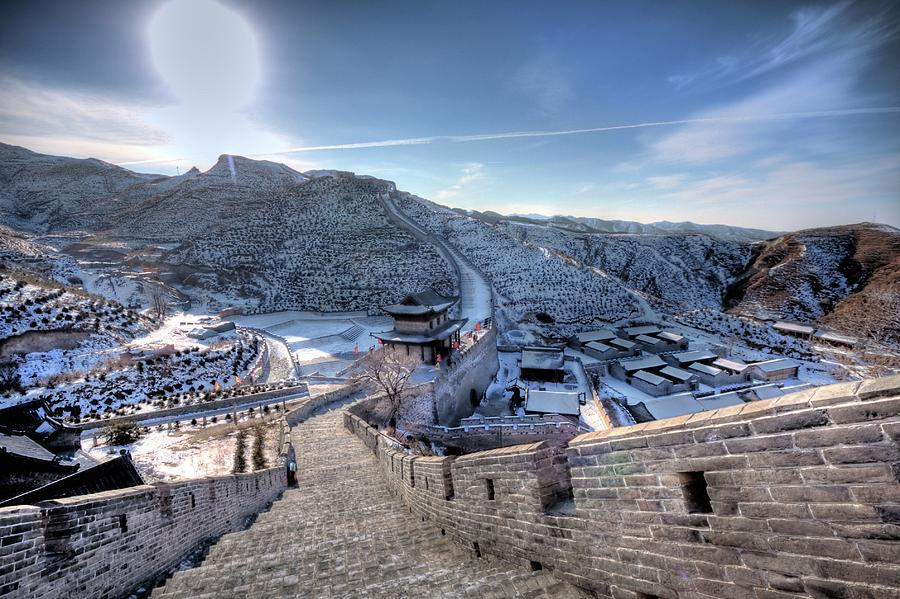 Horizontal Photograph - View Of Great Wall by Photograph by Sunny Ip.