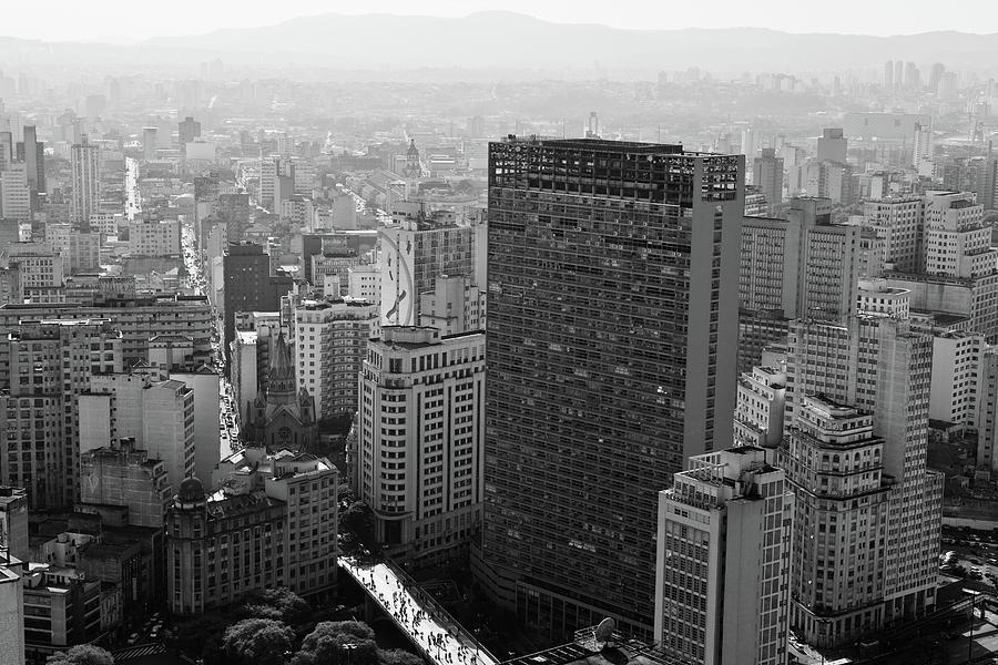 Horizontal Photograph - View Of Sao Paulo by Jacobo Zanella