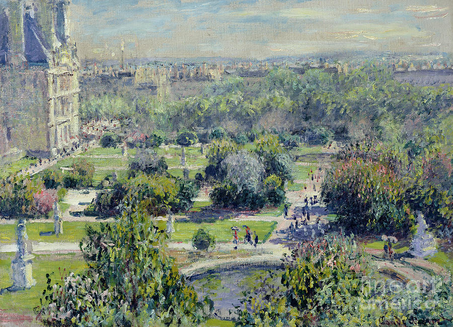 View Painting - View Of The Tuileries Gardens by Claude Monet