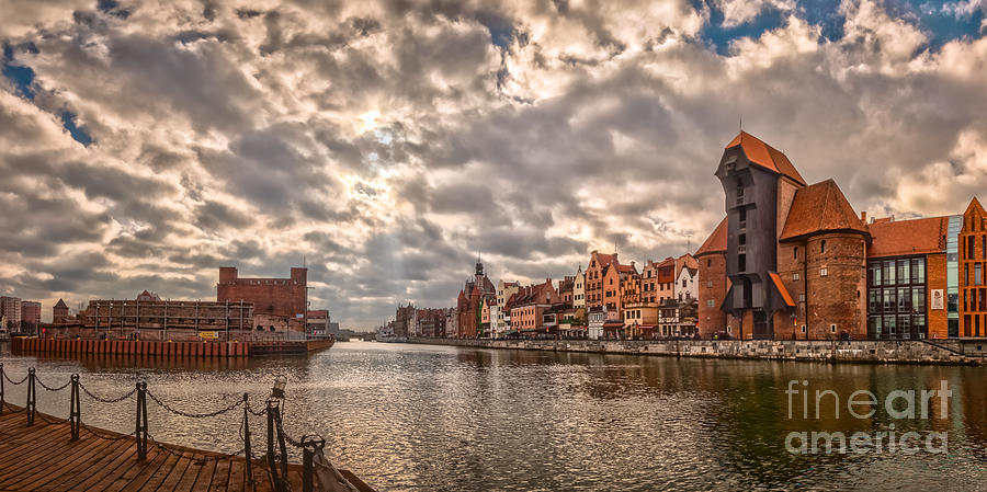 View On Motlawa River In Old Town Gdansk, Poland Photograph