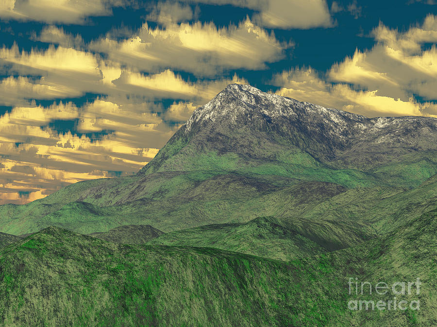 View To The Mountain Digital Art