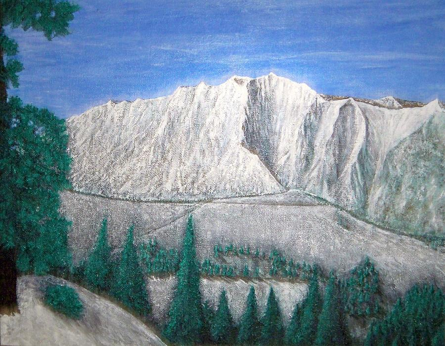 Snow Painting - Viewfrom Spruces by Michael Cuozzo
