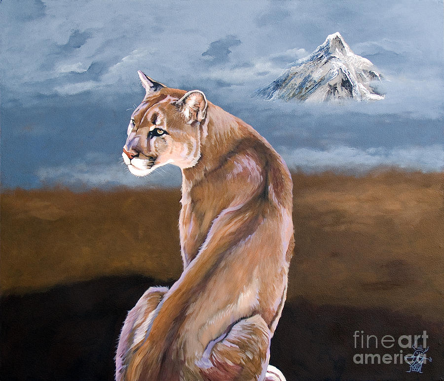 Indigenous Wildlife Painting - Vigilance by J W Baker