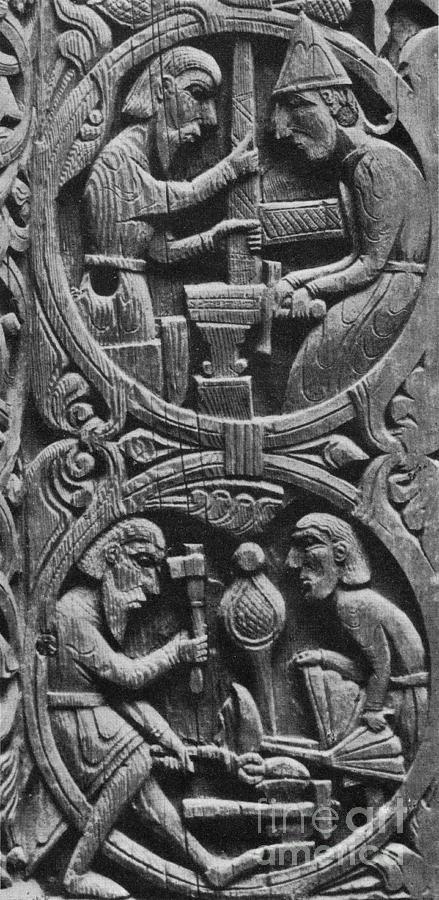 Viking Blacksmiths Forge The Sword Photograph