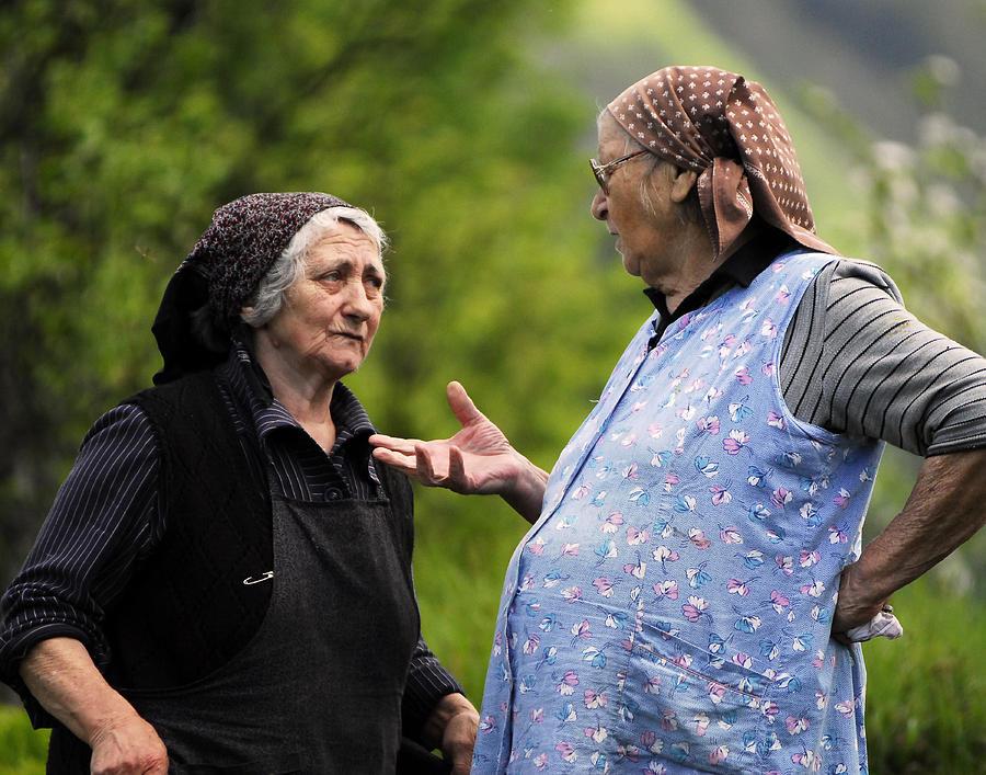 Village Photograph - Village Gossip by Don Wolf
