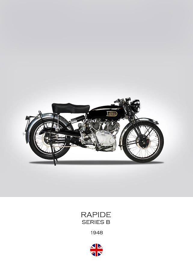 Vincent Hrd Rapide 1948 Photograph - Vincent Hrd Rapide 1948 by Mark Rogan