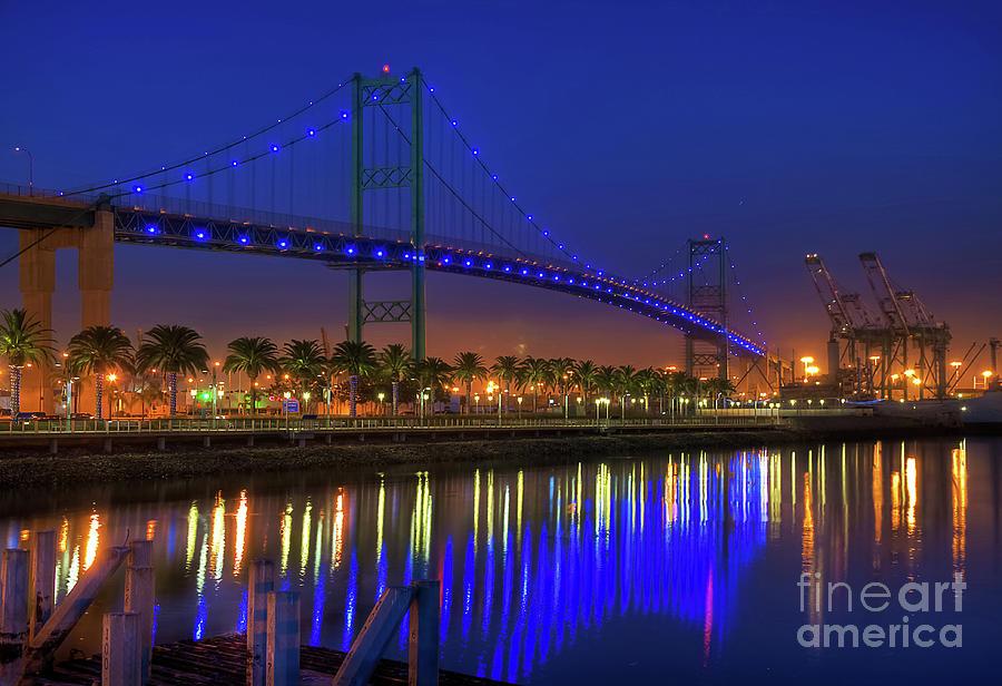 Vincent Photograph - Vincent Thomas Bridge by Eddie Yerkish