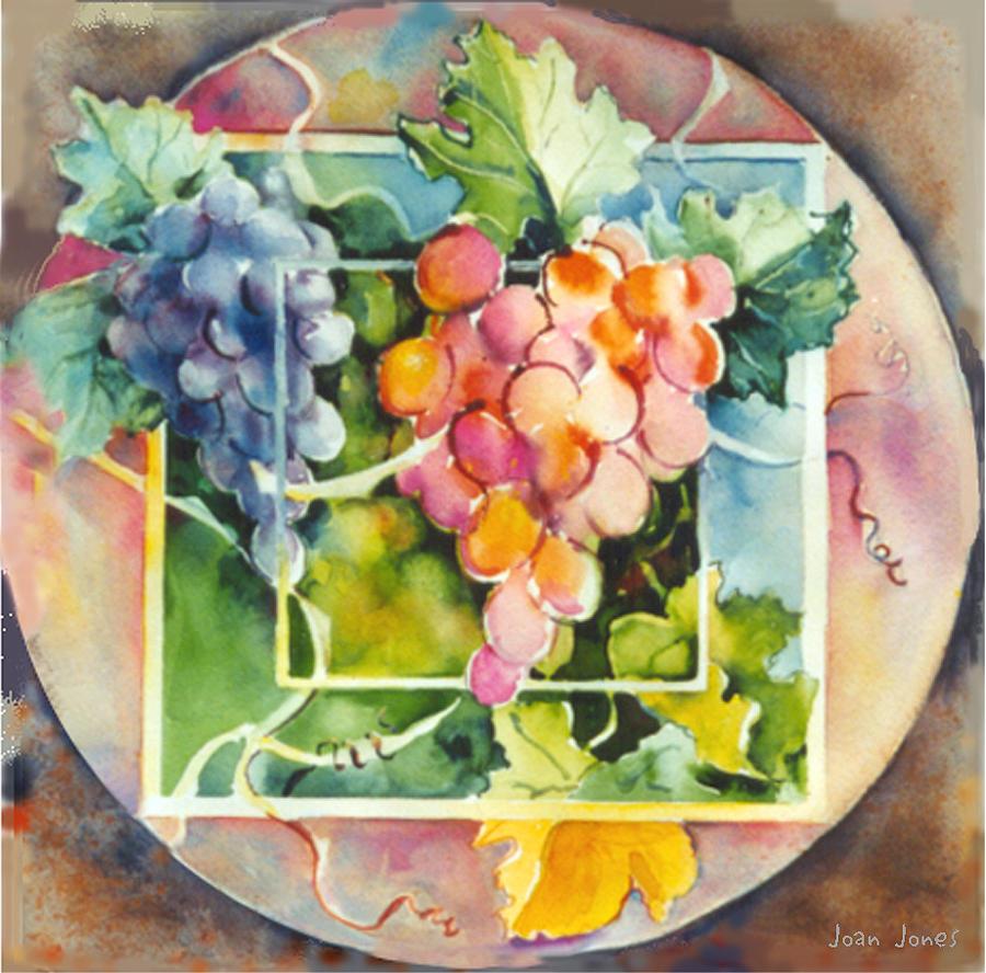 Vineyard Grapes Painting - Vineyard by Joan  Jones
