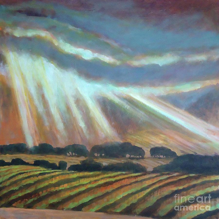 Vineyard Rain Painting