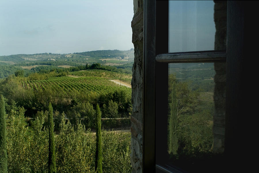 Windows Photograph - Vineyards Of Chianti Viewed by Todd Gipstein