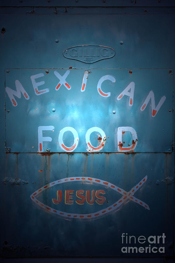 Mexican Food Photograph - Vintage Americana No 2 by C E Dyer