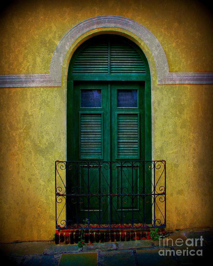 Door Photograph - Vintage Arched Door by Perry Webster