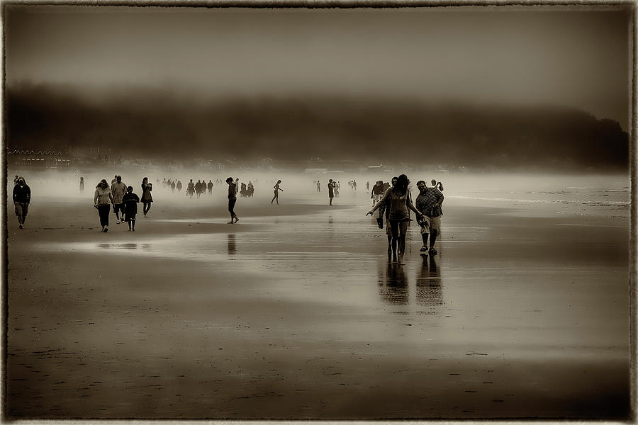 Cannon Beach Photograph - Vintage Beach Walk by David Patterson