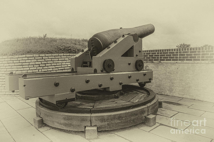 Vintage Cannon At Fort Moultrie Photograph