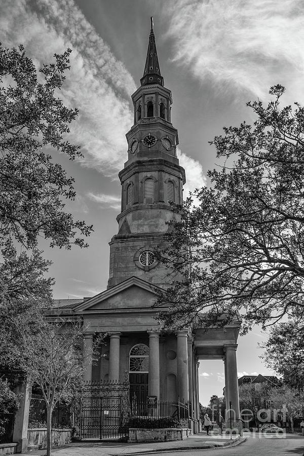 Vintage Charleston Church Landmark Photograph
