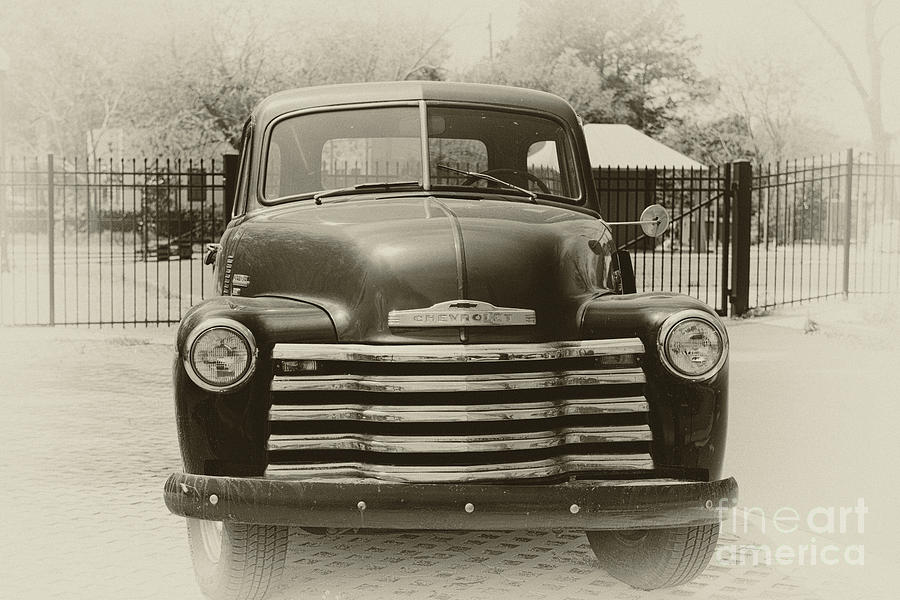 Vintage Chevrolet Pickup Truck Photograph