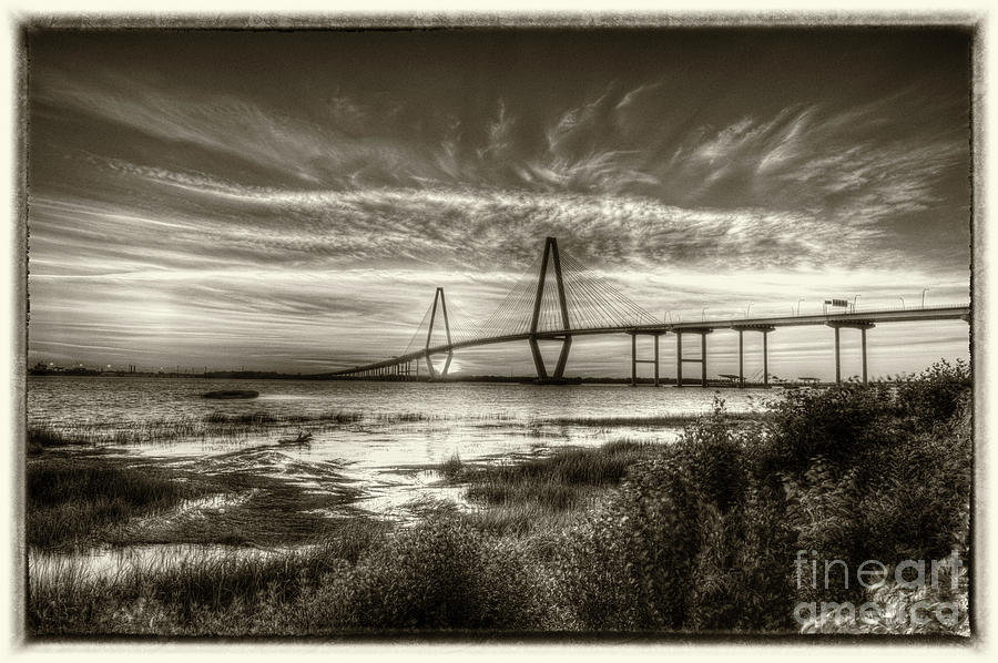 Vintage Cooper River Bridge Photograph