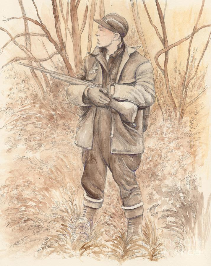 Vintage Painting - Vintage Hunting by Morgan Fitzsimons