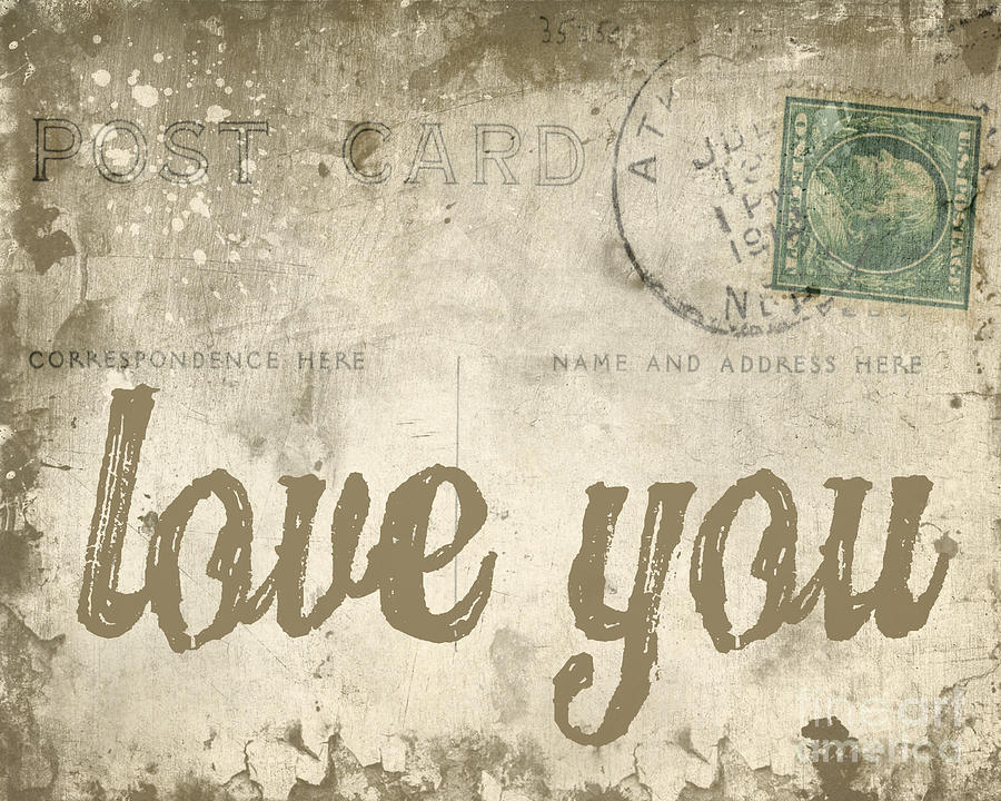 Love Photograph - Vintage Love Letters by Edward Fielding