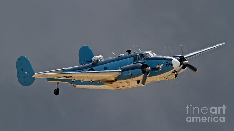 Airplane Photograph - Vintage Naval Twin With Proptip Vortices 2011 Chino Planes Of Fame Air Show by Gus McCrea