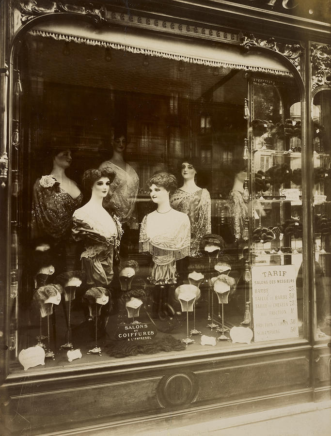 vintage paris photo hair salon boulevard de strasbourg 1912 eugene atget by vintage paris. Black Bedroom Furniture Sets. Home Design Ideas