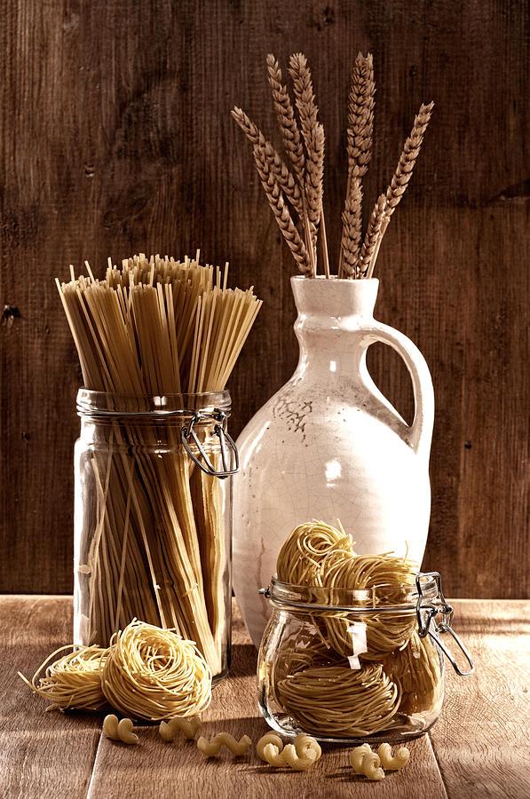 Spaghetti Photograph - Vintage Pasta  by Amanda Elwell