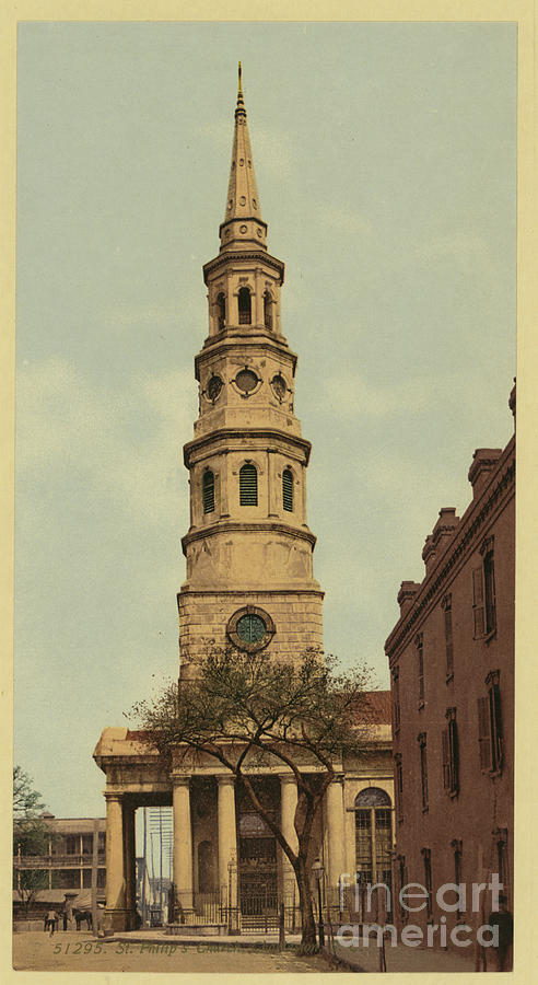 Vintage Postcard Of St. Philips Episcopal Church Photograph