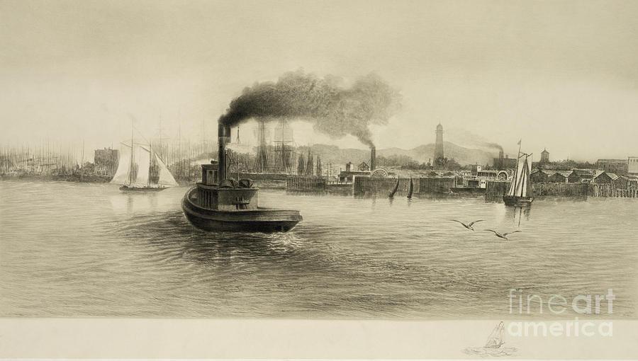 Vintage Wharf Photograph