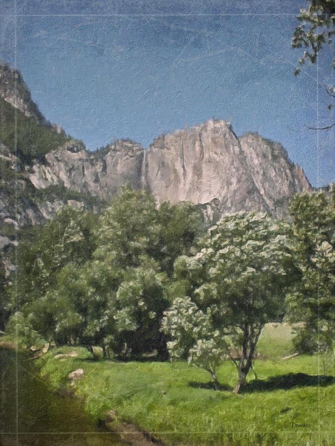 Landscape Painting - Vintage Yosemite by Teresa Mucha