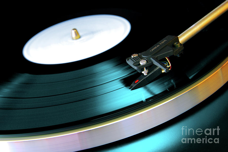Abstract Photograph - Vinyl Record by Carlos Caetano