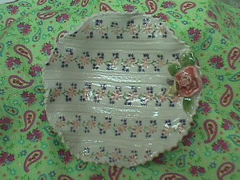 Viola  Rose Bowl Ceramic Art