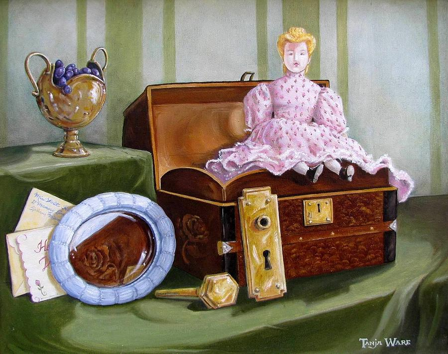 Doll Painting - Violets Attic by Tanja Ware