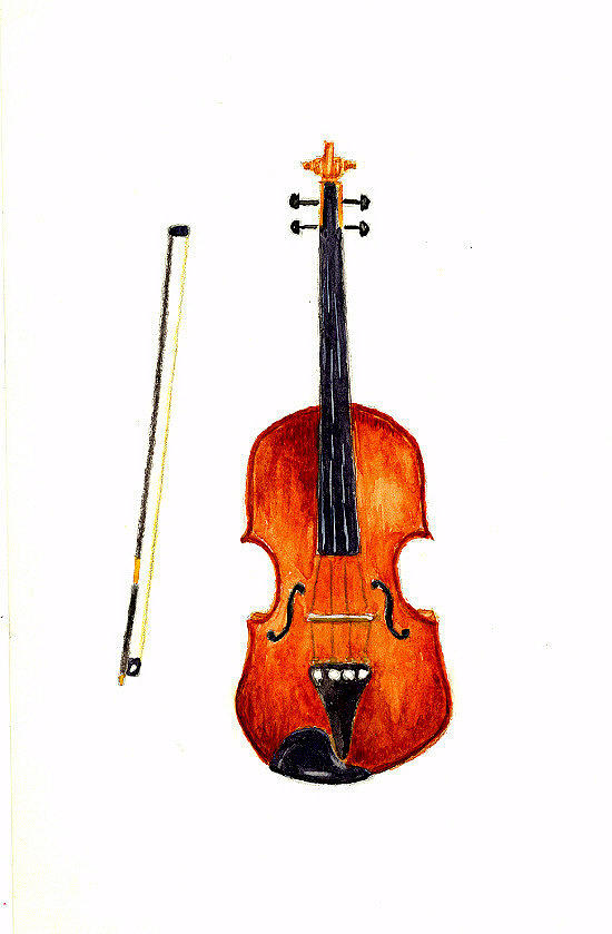 Music Painting - Violin by Michael Vigliotti