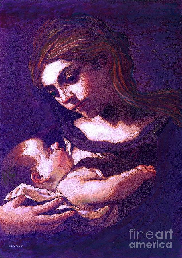 Virgin Mary And Baby Jesus, The Greatest Gift Painting