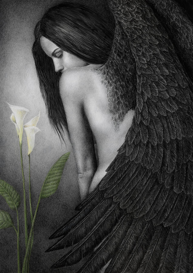 Woman Painting - Visible Darkness by Pat Erickson