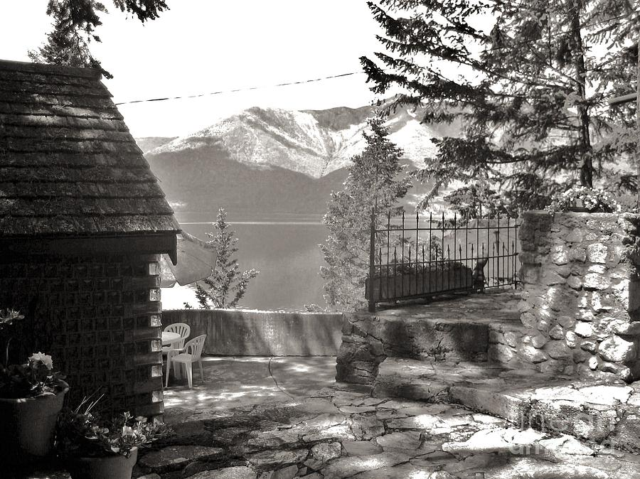 Black And White Photography Photograph - Visions From The Glass House In Boswell B.c. by Reb Frost