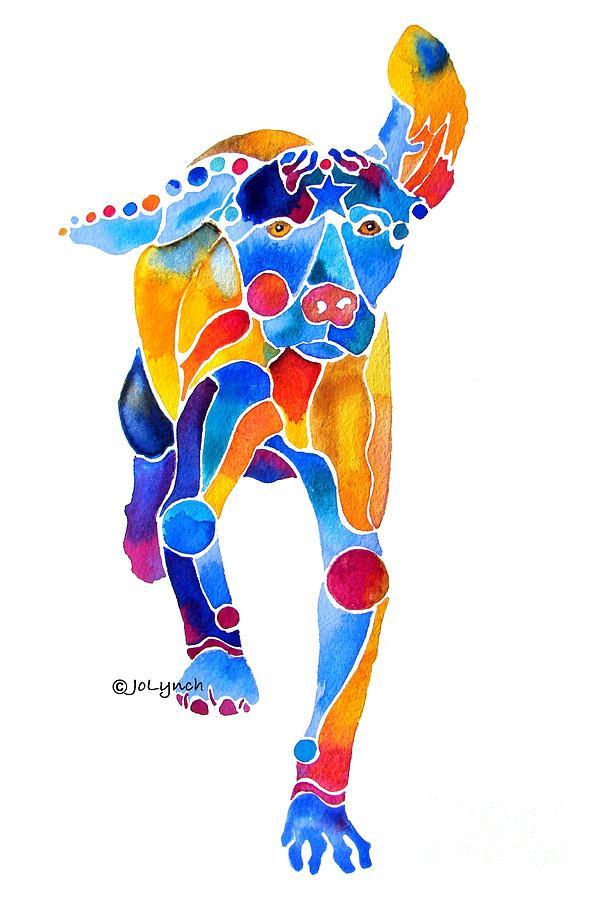 Vizsla Painting - Vizsla Running  by Jo Lynch