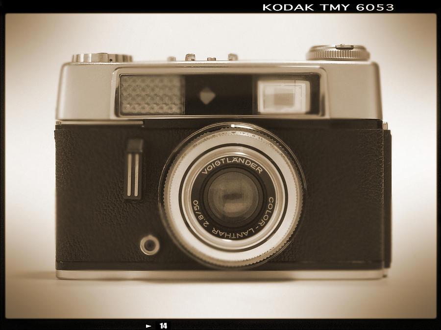Vintage 35mm Camera Photograph - Voigtlander Rangefinder Camera by Mike McGlothlen