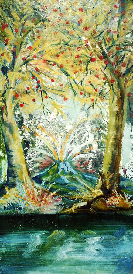 Volcano Painting