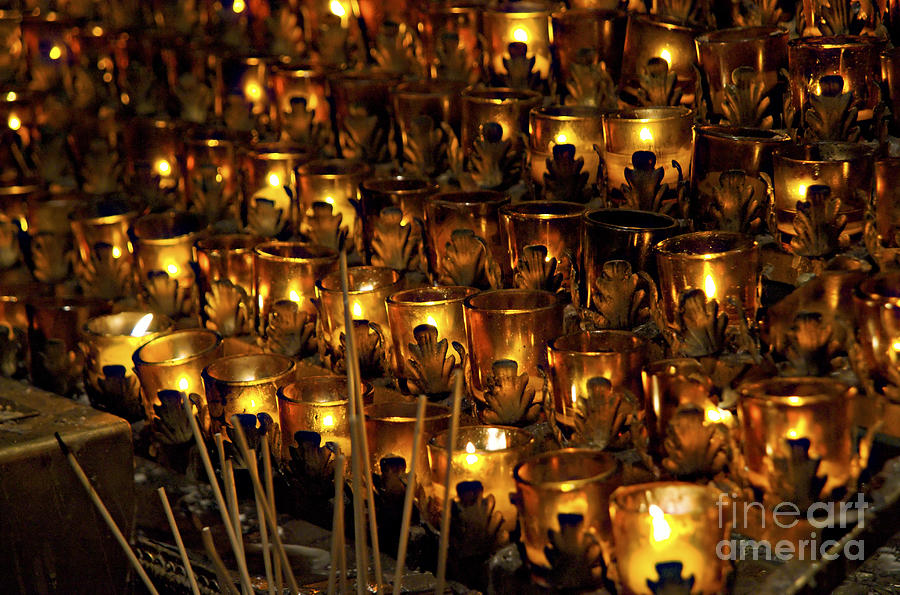 St. Patricks Cathedral Photograph - Votive Candles by John Greim