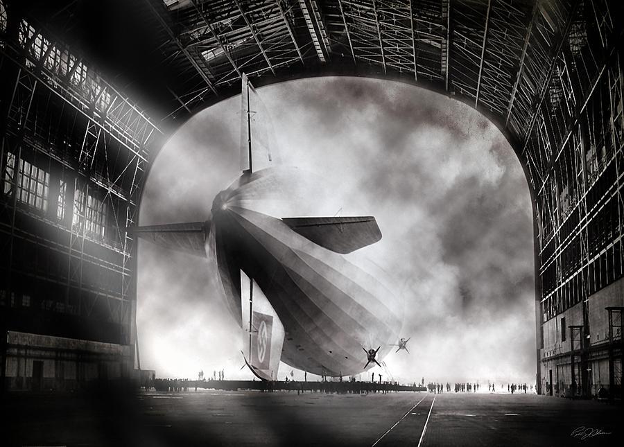 Hindenburg Digital Art - Voyage To Infamy by Peter Chilelli