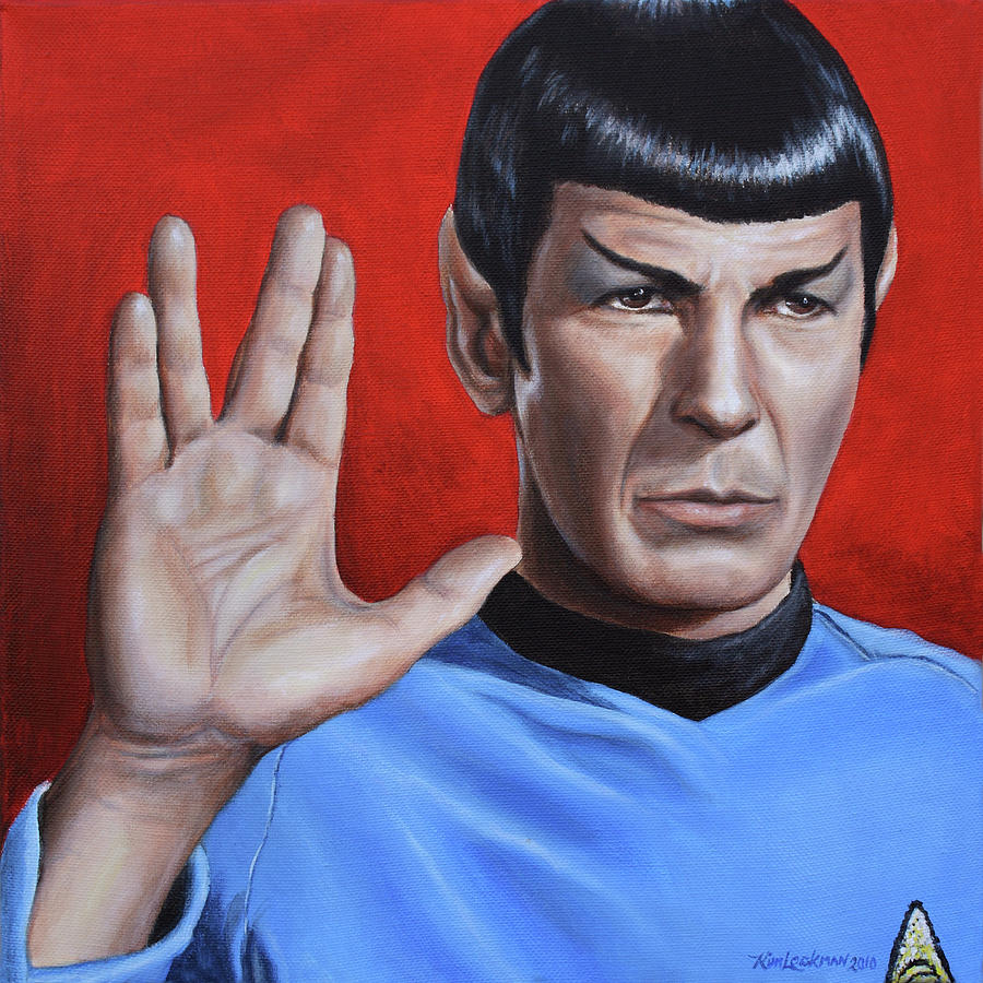 Spock Painting - Vulcan Farewell by Kim Lockman