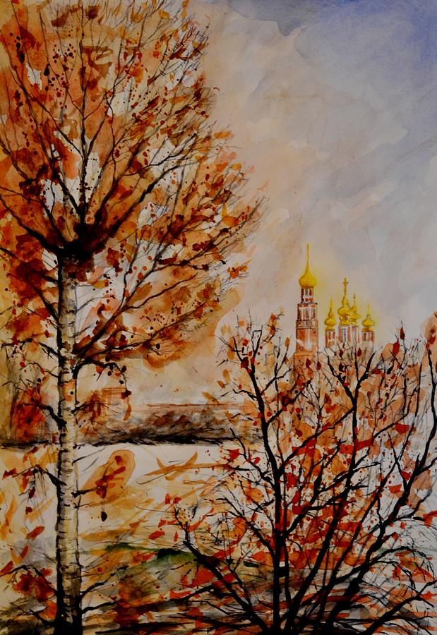 Moscow Painting - W 9 Moscow by Dogan Soysal