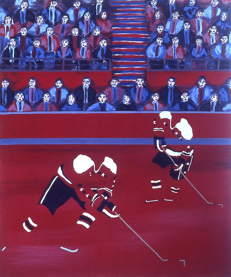 Ice Hockey Painting - W C by Ken Yackel